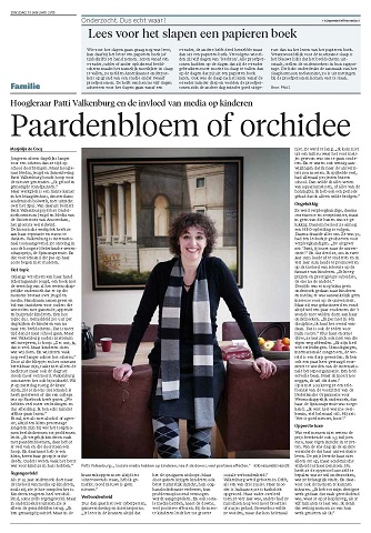 150113 aa Haarlems Dagblad Paardenbloem of Orchidee